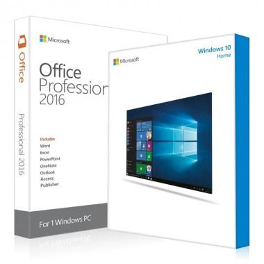 Купить Windows 10 Home + Office 2016 Pro Plus