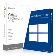 Windows 8.1 Professional + Office 2016 Pro Plus